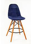 Полубарный стілець Alex Оксамит, синій, фото 2