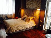 Заказать кровать с мягким изголовьем., фото 1