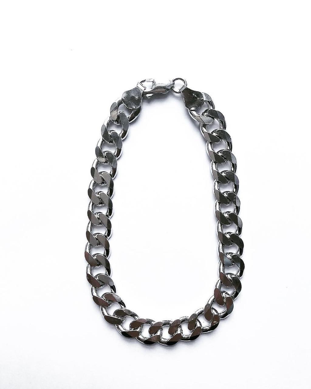Мужской браслет из серебра 22 см панцирное плетение 29 грамм