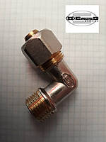 Угол с наружной резьбой 16*1/2 M Gross (усиленный) для металлопластиковой трубы, фото 1