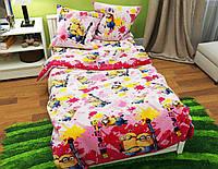 Комплект постельного белья полуторный, ранфорс 100% хлопок. Постільна білизна. (арт.10949)