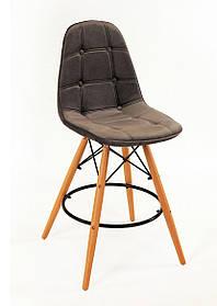 Барный стул Alex Бархат, серый