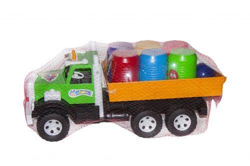 Фарго грузовик с бочонками (желтый)