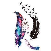Татуювання - наклейка Перо