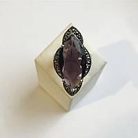 Кольцо из серебра с имитацией аметиста