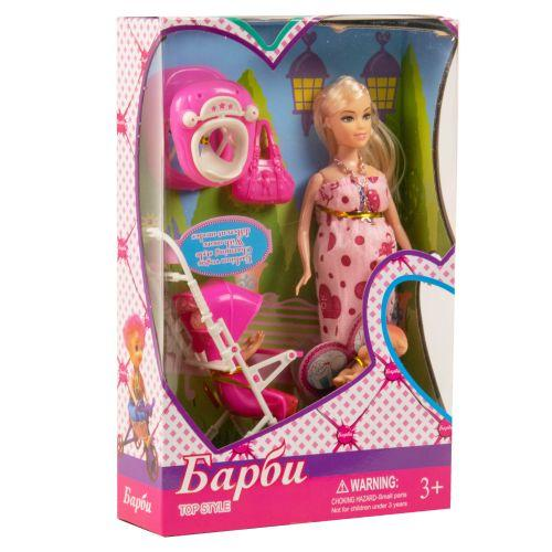 """Беременная кукла """"Барби"""" (в розовом платье)"""