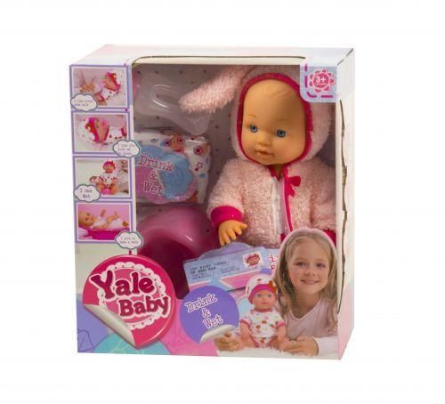 """Пупс функциональный """"Yale Baby: Зайчик"""" (розовый)"""