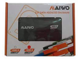 """Карман внешний 2.5"""" Maiwo K2501A-U3S (SATA/USB3.0)"""