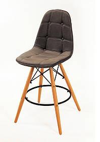 Полубарный стул Alex Бархат, серый