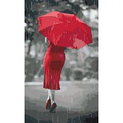 """Картина по номерам """"Красный зонтик"""""""