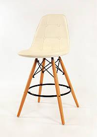Полубарный стулAlex, экокожа, белый