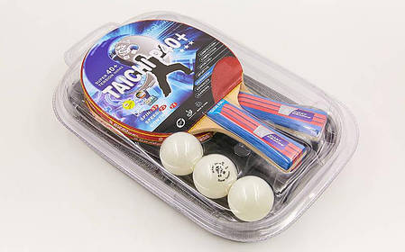 Набор для настольного тенниса 2 ракетки  3 мяча с чехлом GIANT DRAGON TAICHI P40+3* MT-6505 , фото 2