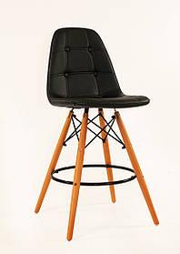 Полубарный стулAlex, экокожа, черный