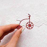 1:12 Миниатюра ретро-велосипед, красный - 4.5 см