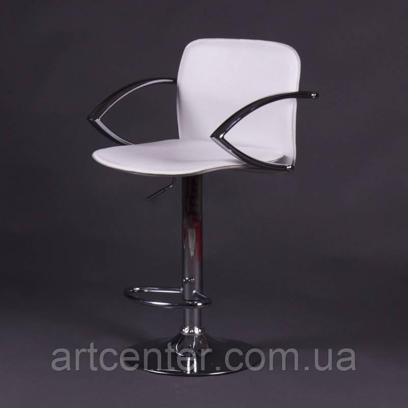 Стілець барний, стілець для візажиста, хокер (ЛЮКС білий)