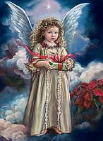 Алмазная вышивка на подрамнике Небесный ангел хранитель 40 х 50 см (арт. TN738)