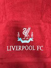Полотенце махровое банное с символикой FC Liverpool
