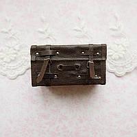 1:12 Миниатюра чемодан, коричневый - 5.6*3*3 см