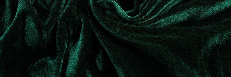 Ткань Стрейч Велюр, темно зеленый