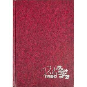Ежедневник недатированный «Кожа» бордовий А5 160 л. , линия, фото 2