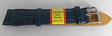 Ремінець шкіряний MODENO (ІСПАНІЯ) 20 мм, темно-синій