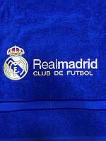 Полотенце махровое банное с символикой FC Real