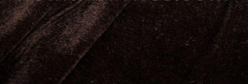 Ткань Стрейч Велюр, коричневый