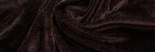 Ткань Стрейч Велюр, коричневый, фото 2