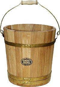 Відро дубове 10 л для лазні та сауни