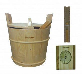 Комплект песочные часы, термогигрометр , запарник для бани и сауны