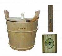 Комплект песочные часы, термогигрометр , запарник для бани и сауны, фото 1