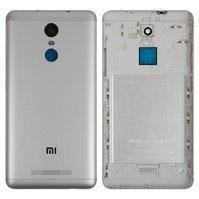 Задняя крышка батареи для мобильного телефона Xiaomi Redmi Note 3 Pro, серебристая, белая, Original (PRC), с боковыми кнопками
