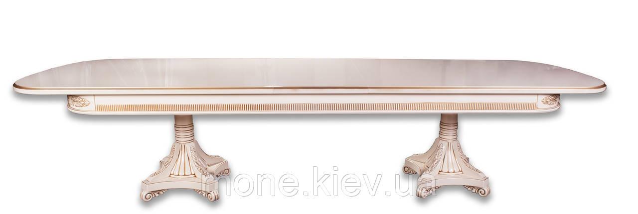 """Обеденный кухонный стол (300+50/110/75 см)"""" Марсель-350"""""""