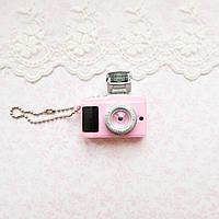 1:12 Миниатюра фотоаппарат со вспышкой, розовый - 4*2 см