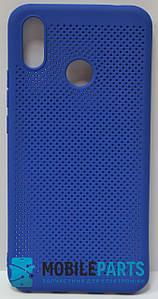 Оригинальный Силиконовый Чехол для Huawei P Smart Plus (Основа для вышивания) (Синий)