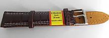 Ремінець шкіряний MODENO (ІСПАНІЯ) 20 мм, темно-коричневий білий.стр.