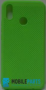 Оригинальный Силиконовый Чехол для Huawei P Smart Plus (Основа для вышивания) (Салатовый)