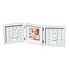 Рамочка Baby Art Тройная с отпечатками Стильная Белая