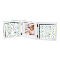Рамочка Baby Art Тройная с отпечатками Стильная Белая, фото 1