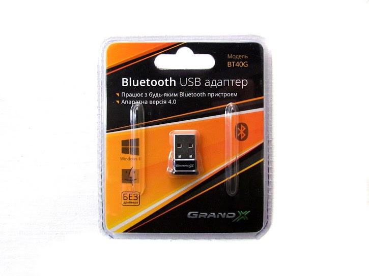 USB bluetooth адаптер V 4.0 Grand-X BT40G