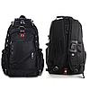 Швейцарский рюкзак, SwissGear с дождевиком, USB-кабелем, разъёмом под наушники, Чёрный - Фото