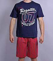 Мужская пижама  Natural Club 071   L Синий с красным