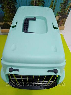 Переноска для собак GIPSY 1 small Pink металлическая дверь, фото 2