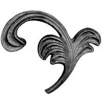 Листок из металла 95 мм*105 мм *3мм Арт. AD-52.003