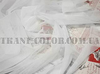Ткань сетка стрейч белая