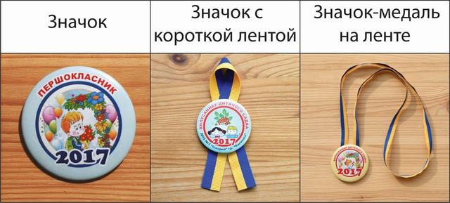 Значок, значок с лентой, значок-медаль на ленте