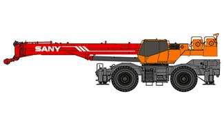 Самоходный колесный кран мощность: 198 kW/ 2500 rpm, грузоподъемность:55 t, длина стрелы:11.5-43m