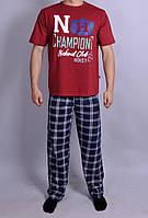 Мужская пижама  Natural Club 084   L Синий с красным