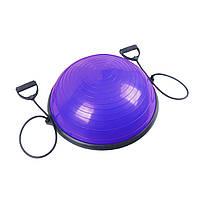 Балансировочная платформа Sport Shiny Bosu Ball 60 см фиолетового цвета
