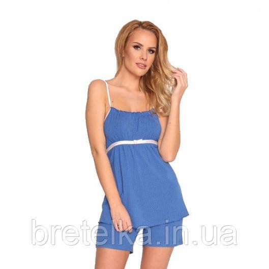 Пижама женская Delafense 915 синий